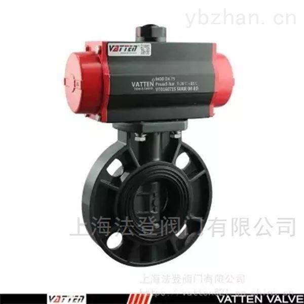 气动PVC塑料对夹蝶阀 耐酸碱排污气动阀