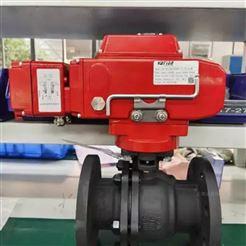 VATTEN电动碳钢PTFE密封球阀 两片式法兰电动球阀