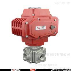 Q914四通排水电动阀 四通流向切换阀 德国VATTEN