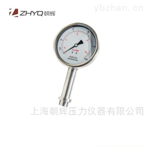 工业压板式防振隔膜压力表
