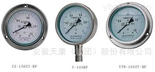 天康YBF/YBFN不锈钢压力表
