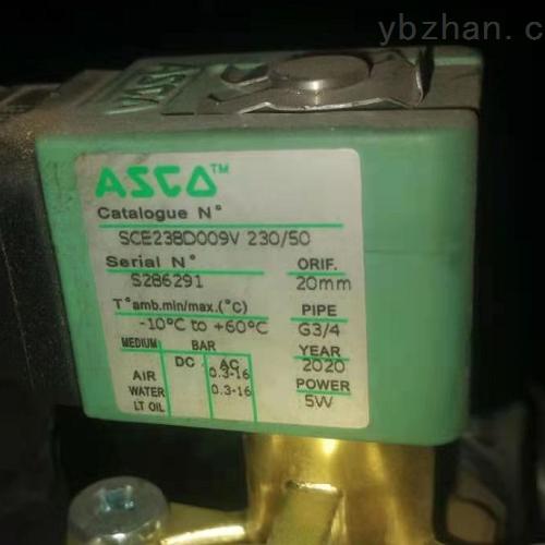 美国ASCO防爆电磁阀材质EF8344G044