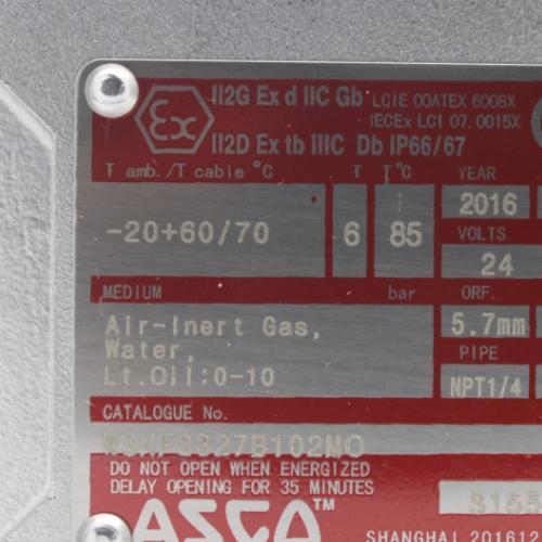 美国ASCO点火控制电磁阀JKH8321G001
