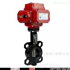 VT1AEW11A电动耐磨放水阀 电动对夹衬胶蝶阀