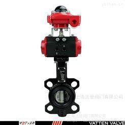 VT1ASW11A气动工业料渣阀碳钢 气动耐磨排渣蝶阀