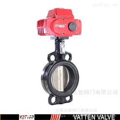 VT1AEW11A球铁衬尼龙板蝶阀 电动废水排放蝶阀
