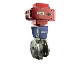 VQ941F电动V型钛材球阀厂家 进口电动V型球阀