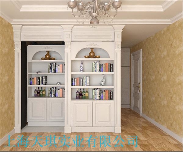 书柜内退隐形门