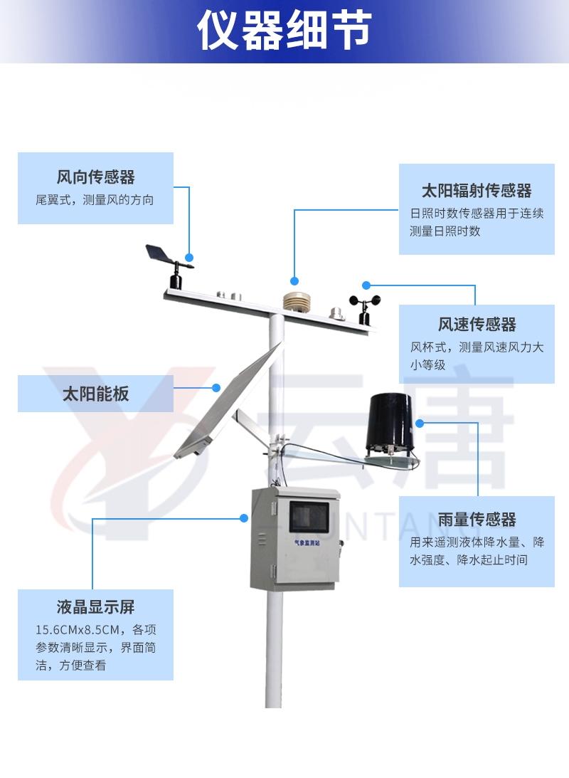 一体化超声波气象监测站