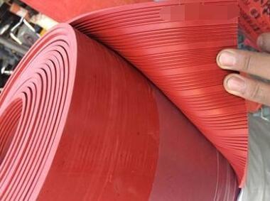红色条纹绝缘垫