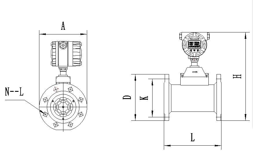 流量的外形尺寸(图4)